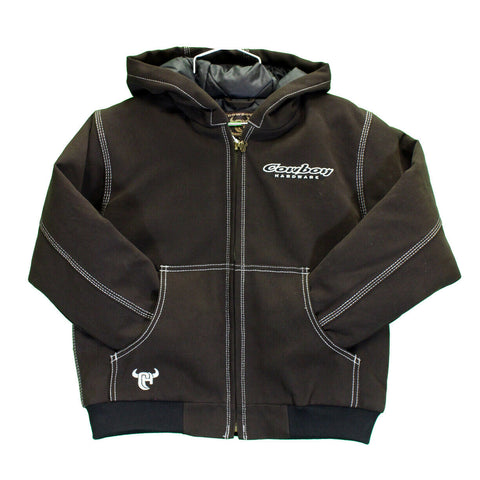 Cowboy Hardware Children's Dark Brown Canvas Hooded Jacket 391076-662