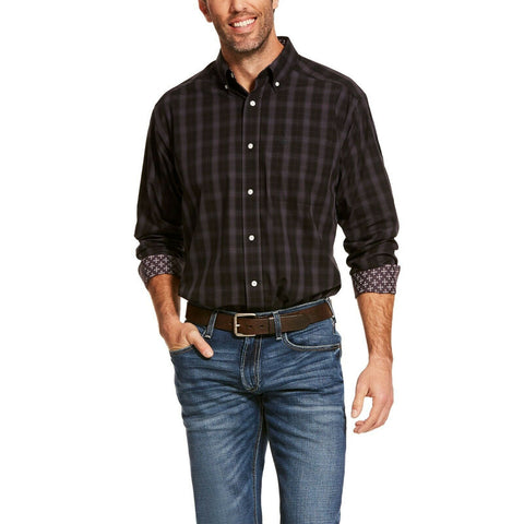 Ariat® Men's Black Clayborne Classic Long Sleeve Shirt 10028734