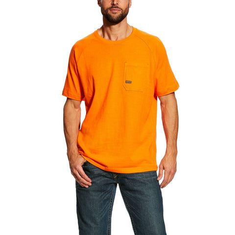 Ariat® Men's Rebar CottonStrong Orange Short Sleeve T-Shirt 10025385