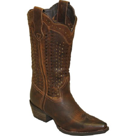 Rawhide by Abilene Ladies Scalloped And Weaving Western Boot Snip Toe 5143 - Wild West Boot Store