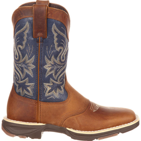 Durango Ladies Blue/Brown Ultra-Lite Western Saddle Boot DRD0183 - Wild West Boot Store - 3