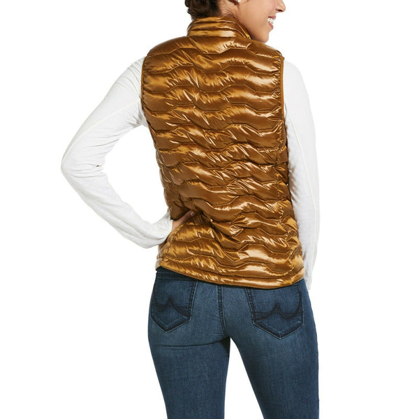 Ariat® Ladies Ideal 3.0 Down Insulated Gold Quilted Vest 10032645