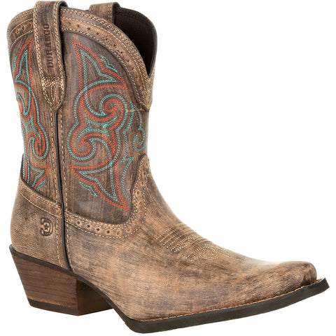 Durango Ladies Crush Brown Shortie Western Boots DRD0358