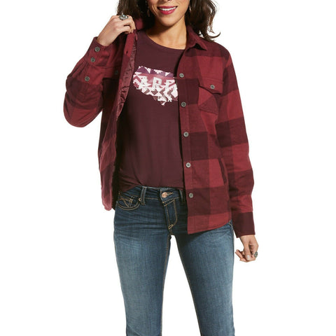 Ariat Ladies REAL Shacket Buffalo Check Shirt Jacket 10033261