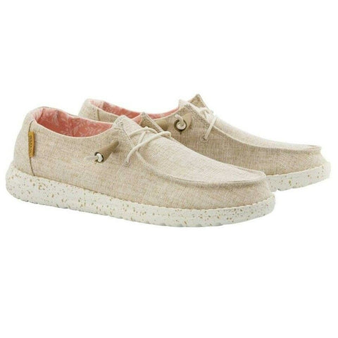 Hey Dude Ladies Wendy Chambray White Nut Shoes 121410121