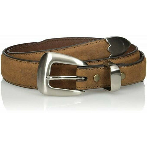Nocona Men's Tapered Brown Classic Western Leather Belt N2427244