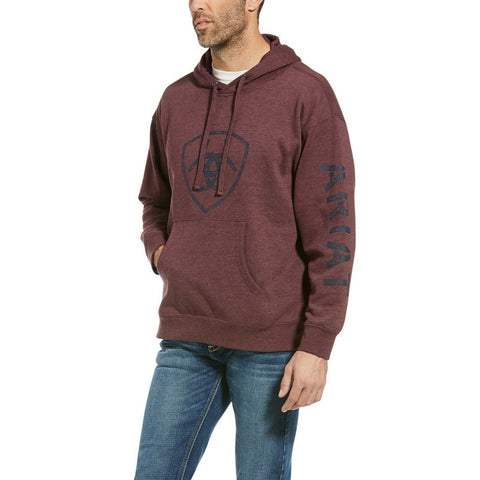 Ariat Men's Classic Logo Malbec Heather Hoodie 10033545