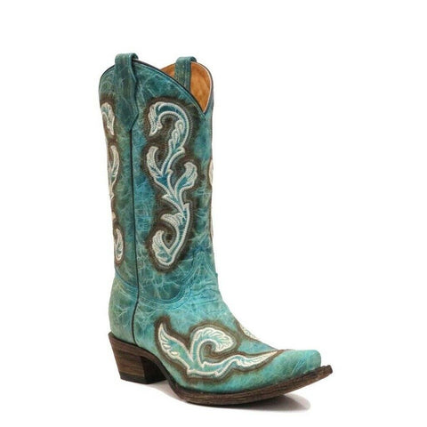 Corral Children's Turquoise Embroidered Boots A3150