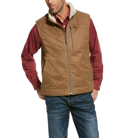 Ariat® Men's Cub Brown Grizzly Canvas Vest 10028416