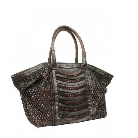 Corral Ladies Studs & Woven Wine Lamb Purse D1159