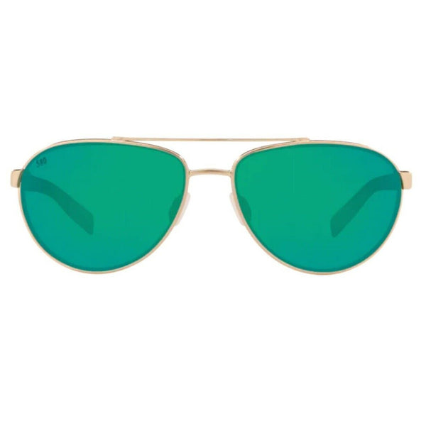 Costa Fernandina Gold Frame with Green Lens Sunglasses FER 226 OGMGLP
