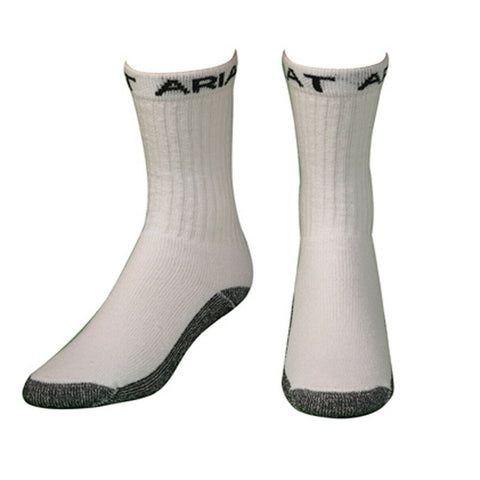 Ariat Men's White 3- Pack Workboot Socks A2503805