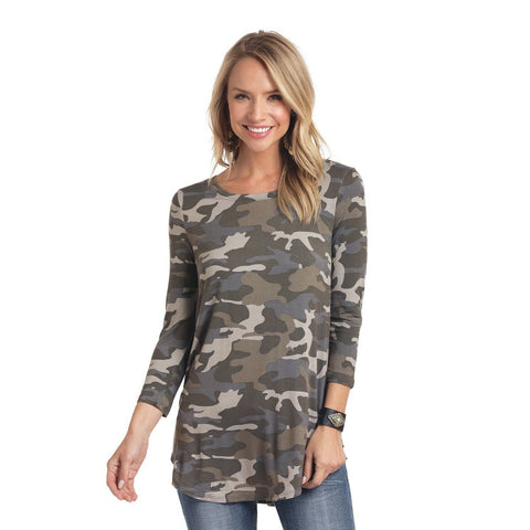 Panhandle Ladies 3/4 Sleeve Camo Top L9T3701