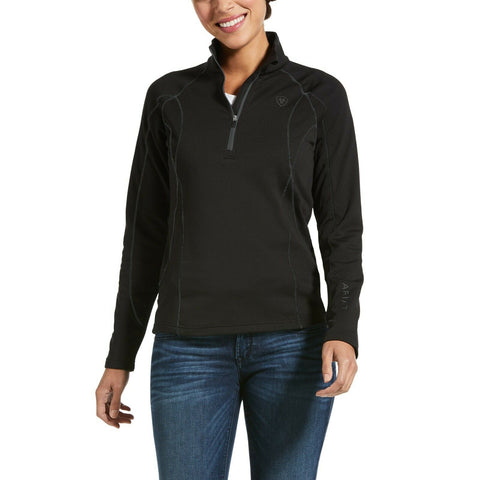 Ariat® Ladies Conquest 2.0 Black 1/2 Zip Sweatshirt 10032657