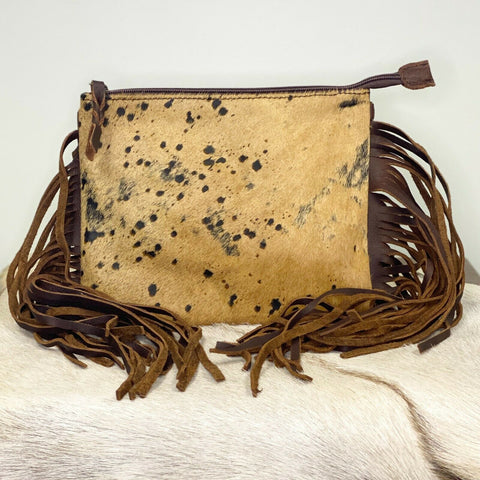 American Darling Brown Cowhide with Fringe Crossbody ADBG109BRAC1