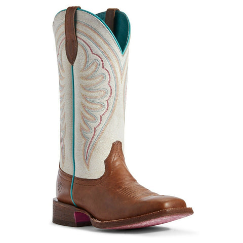Ariat Ladies Crackled White & Red Brown Circuit Shiloh Boots 10031470