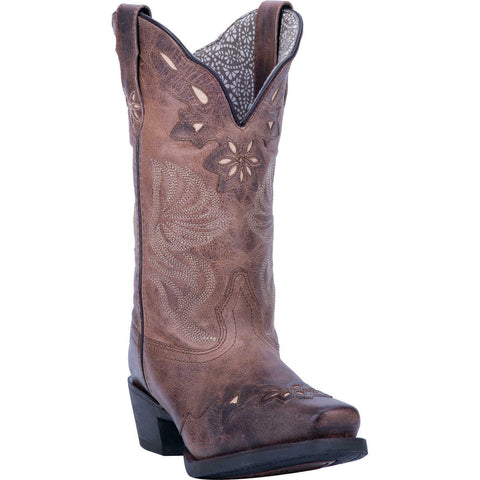 Laredo Ladies Brianna Brown Leather Boots 5682