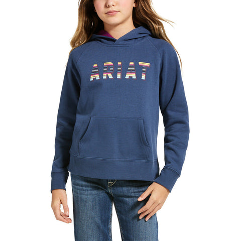Ariat® Childrens Marine Blue REAL Serape Hoodie 10032805