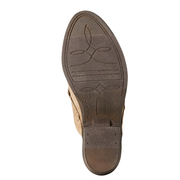Ariat® Ladies Unbridled Shirley Sand Suede Mules 10021289 - Wild West Boot Store