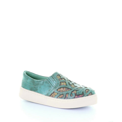 Corral Ladies Turquoise Inlay & Embroidery Sneakers E1566