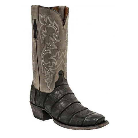 Lucchese Men's Burke Giant Alligator Black/Charcoal Boot M3196.74 - Wild West Boot Store - 1