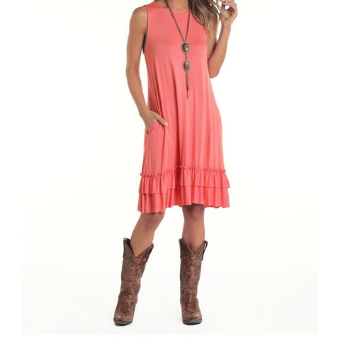 Panhandle Ladies Coral Sleeveless Knit Dress L7D5387