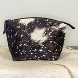 American Darling Black and Silver Cowhide Pouch ADBG443ACSL-L