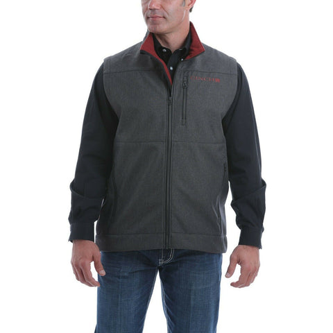Cinch Men's Textured Charcoal Grey Bonded Vest MWV1515006