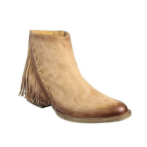 Circle G by Corral Ladies Tan Side Fringe Bootie Q0035 - Wild West Boot Store