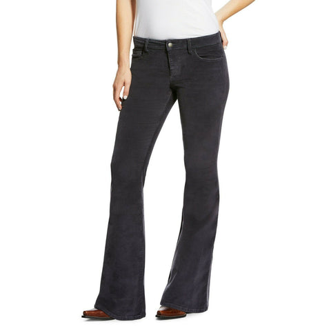 Ariat® Ladies Corduroy Flare Nightshade Black Jeans 10032466