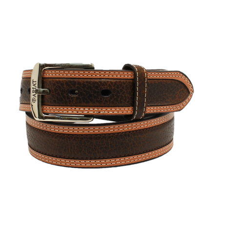Ariat Men's Diesel Brown Rowdy Leather Belt A10004305