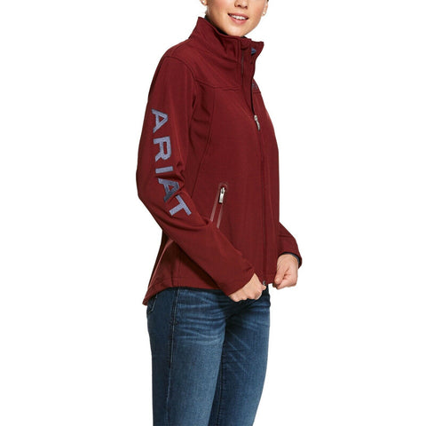 Ariat Ladies New Team Red Cabernet Heather Softshell Jacket 10028249