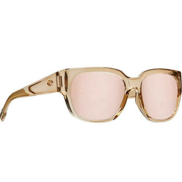 Costa Shiny Blond Crystal & Copper Silver Lens Sunglasses WTW 252 OSCP