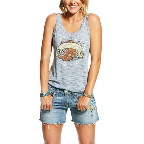 Ariat® Ladies Indigo Fade Honky Tonkin Tank Shirt 10026577