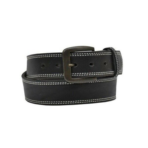 3D Belt Company Men's Black Latigo Double Stitched Belt D1130