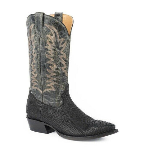 Stetson Men's Black Python Belly Boots 12-020-6118-4028