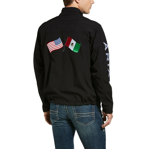 Ariat® Men's New Team Black USA/Mexico Softshell Jacket 10033523
