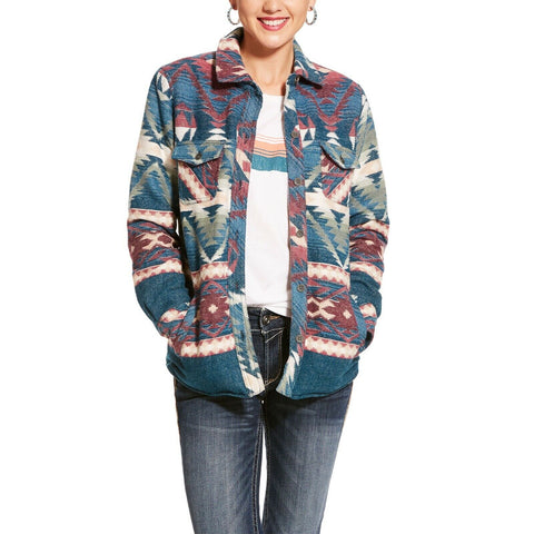 Ariat® Ladies Serape Snap Button Shacket Shirt Jacket 10028772