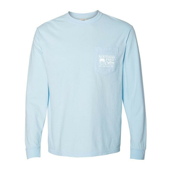Southern Fried Cotton Colt Chambray Long Sleeves T-Shirts SFM30600