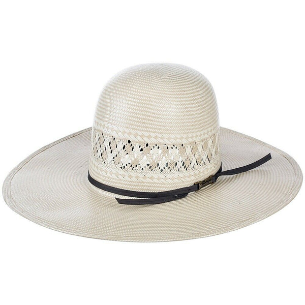 American Hat Co. Natural Straw With Chocolate Band Western Hat 1011