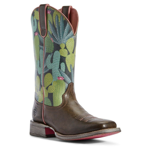 Ariat Ladies Taupe and Navy Cactus Circuit Savanna Boots 10031467