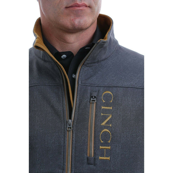 Cinch Men's Printed Charcoal Grey Bonded Jacket MWJ1501003