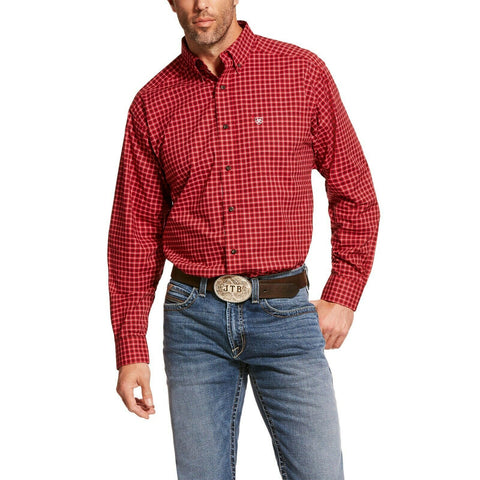 Ariat® Men's Cranberry Crimson Pro Dahlsten Stretch Shirts 10028907