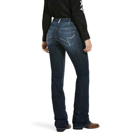 Ariat Ladies R.E.A.L Arrow Fit Mid Rise Boot Cut Jeans 10033479