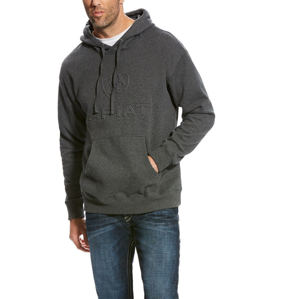 Ariat® Men's Branded Charcoal Grey Hoodie 10023655 - Wild West Boot Store