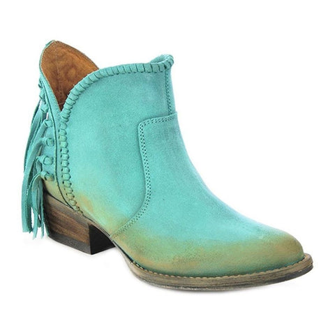 Circle G by Corral Ladies Turquoise Fringe Shortie Boot Q0005 - Wild West Boot Store