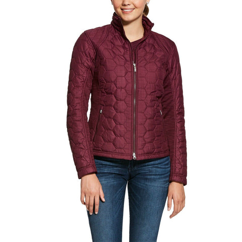 Ariat® Ladies Volt Cabernet Grape Quilted Insulated Jacket 10028267