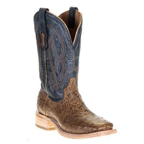 Corral Men's Orix & Blue Ostrich Embroidered Square Toe Boots A4052