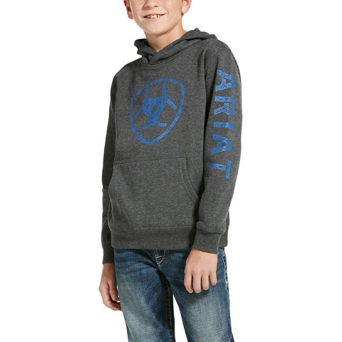 Ariat® Children's Classic Logo Charcoal Heather Hoodie 10033032