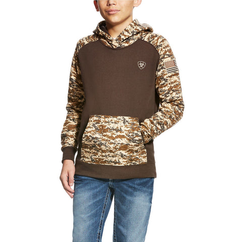 Ariat® Boy's Patriot Desert Digital Camo Hoodie 10023117 - Wild West Boot Store